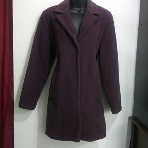 { London Fog } lambs wool plum dress coat